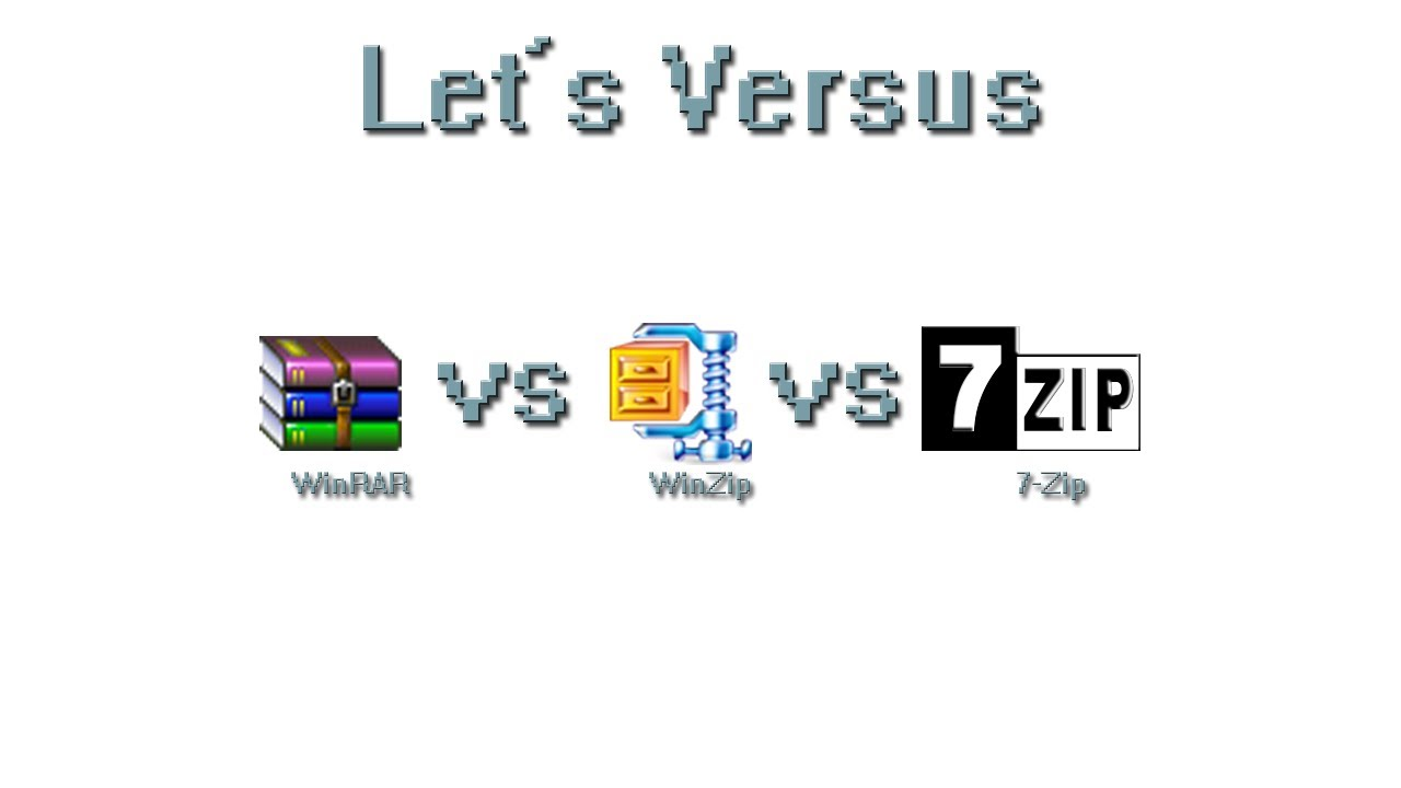 7-Zip vs WinZip vs WinRAR vs Windows Compression