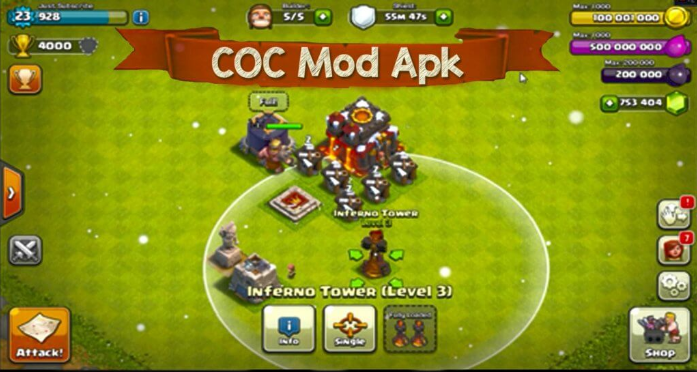 Free Download Clash of Clans Mod Apk