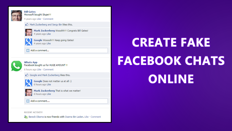 How To Create Fake Facebook Conversation Online