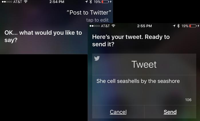 Let Siri Tweet for you