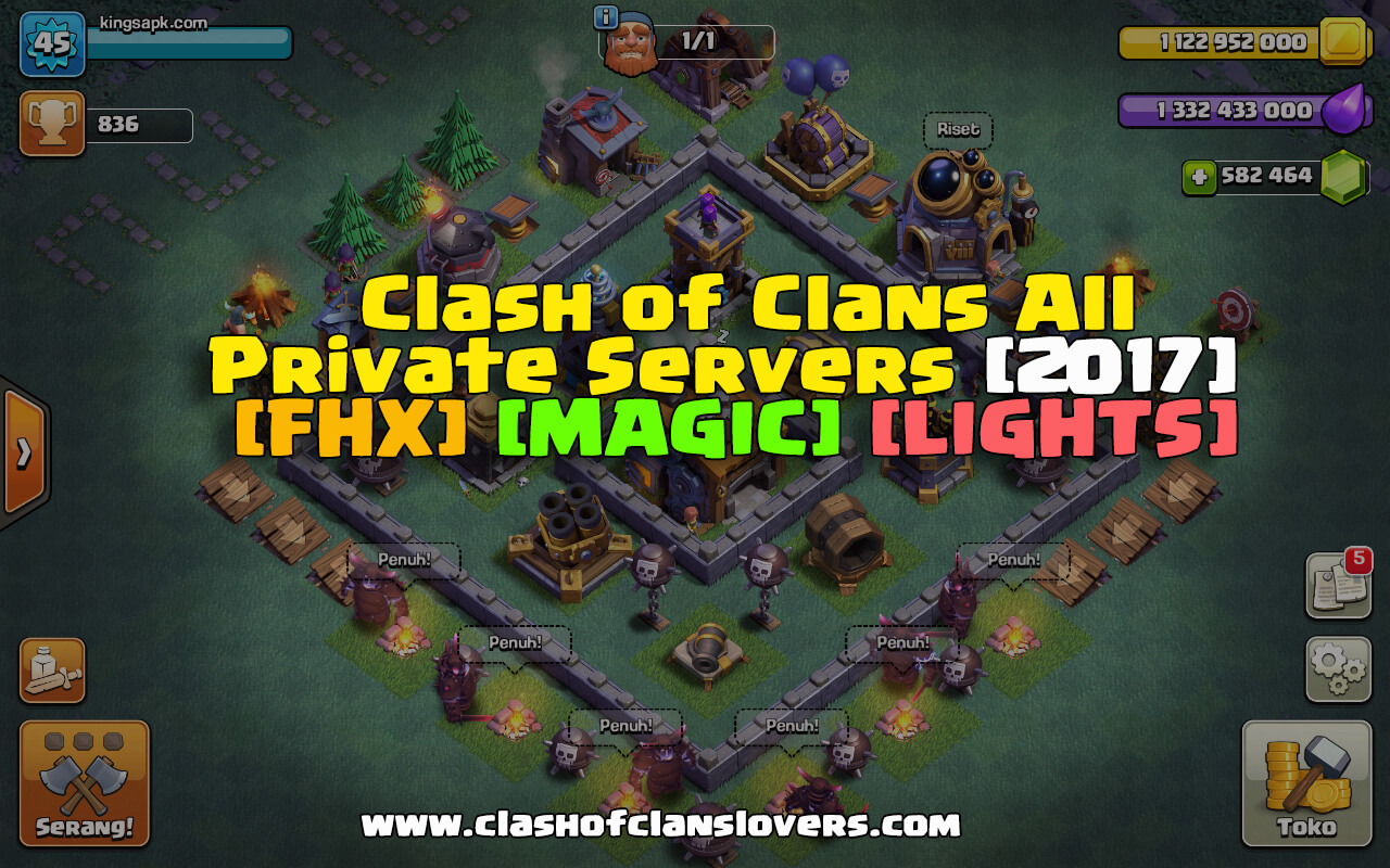 Clash Of Lights Coc Private Server