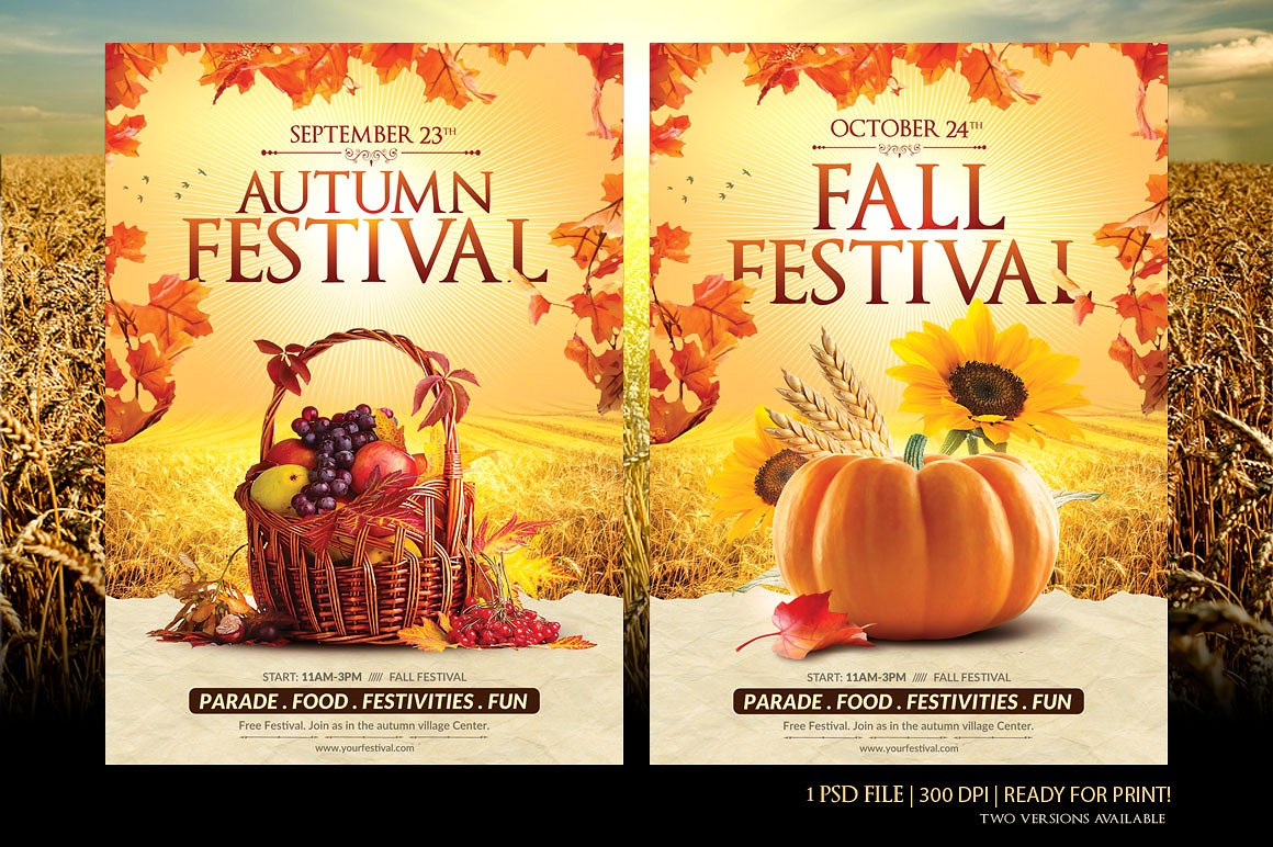 fall festival flyer templates free download of 2018. Black Bedroom Furniture Sets. Home Design Ideas