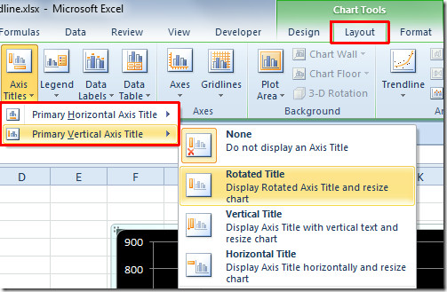 How to Label Axis on Excel