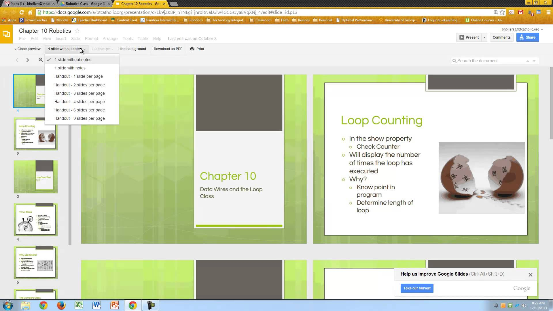 How to Print Multiple Slides on One Page Google Slides