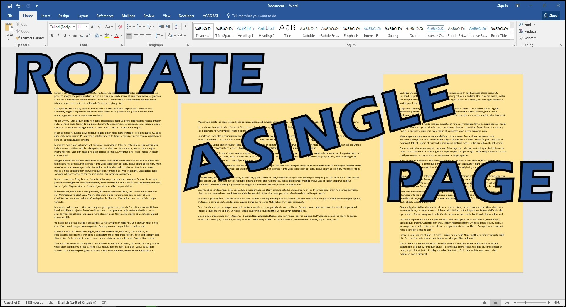 How to Rotate Picture in Word