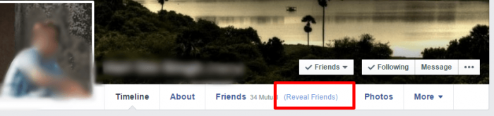 Uncover / See Hidden Friend List of Your Friend on Facebook with Friend Mapper Extension