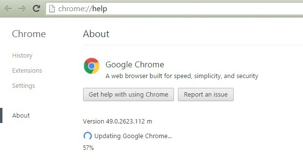 Updating Flash in the Chrome Browser