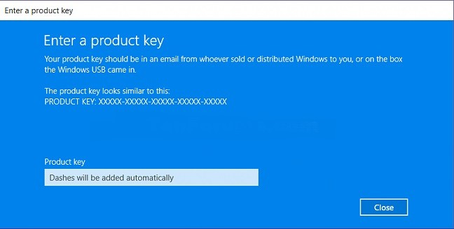Windows 10 Asking for Product Key
