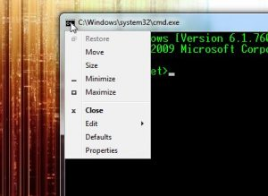 Enable Quick Edit Mode in Command Prompt