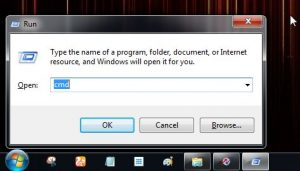 Open Command Prompt from Run Window