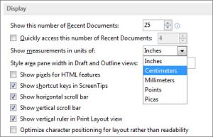 Turn on vertical ruler in Microsoft Word 2016, 2013, 2010
