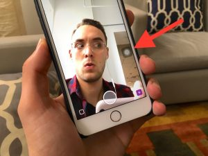 how to record on snapchat without holding the button iphone