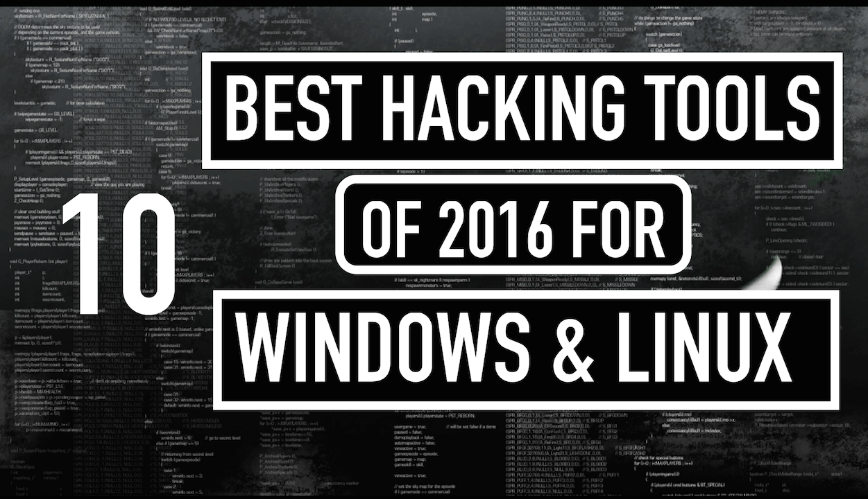 Free Hacking Tools For Windows and Linux