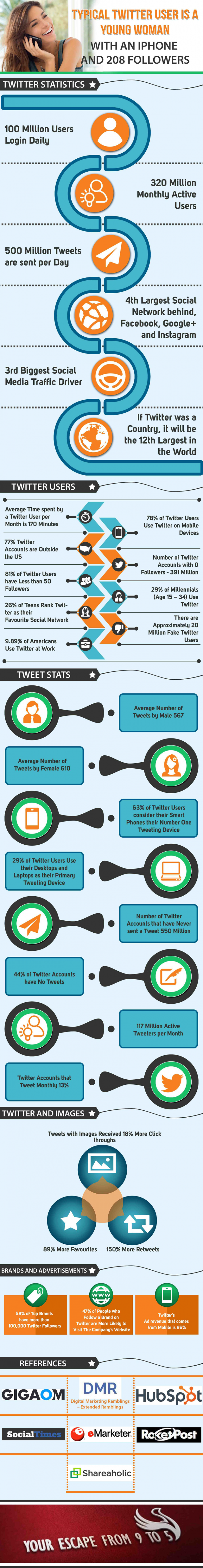How Big Is Twitter - Infographic