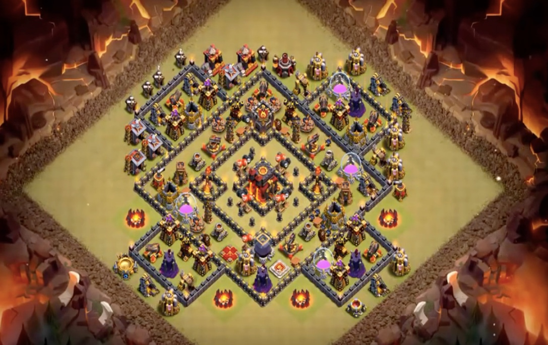 Anti 3 Star TH10 War Base Layout