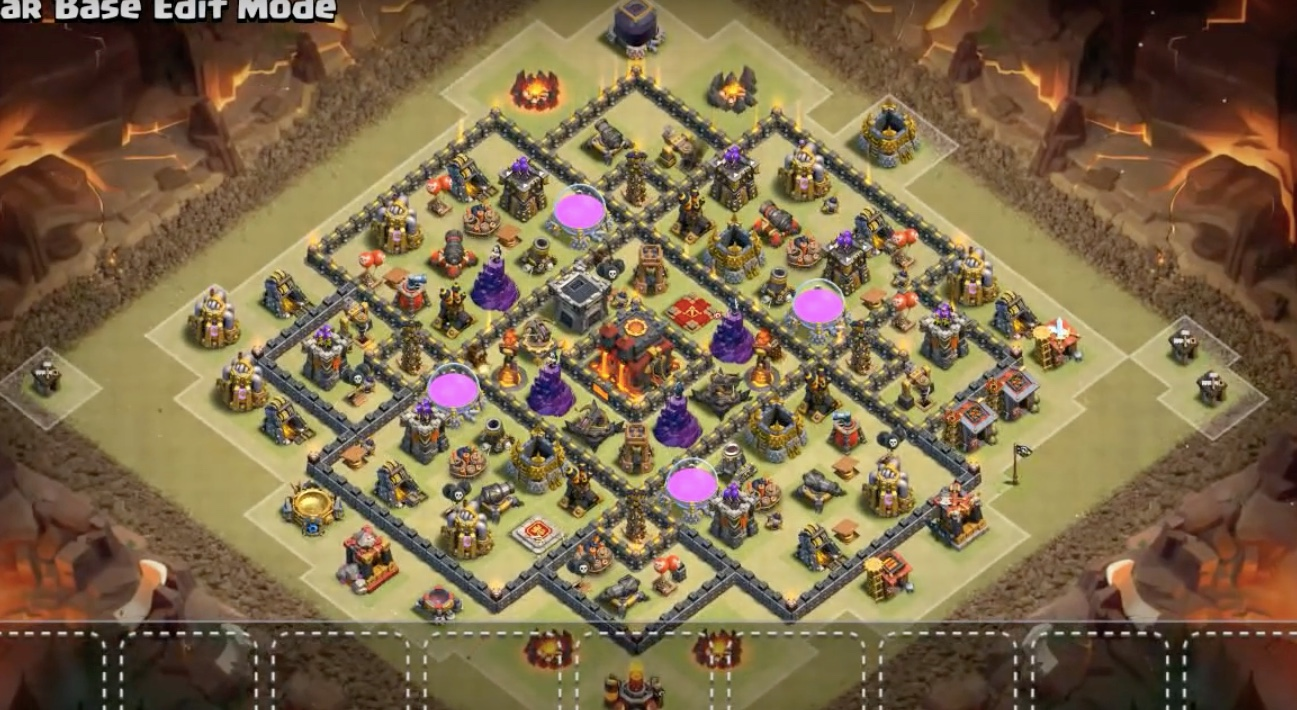 Anti-Valkyrie & Anti-Bowler TH10 War Base