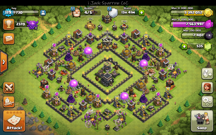 Lists of Town Hall 9 Hybrid Base: