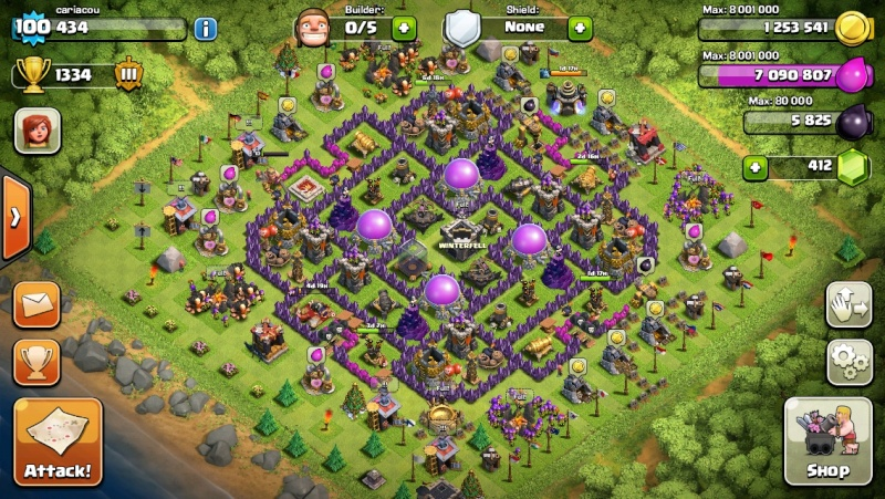 clash of clans th9 farming base layout