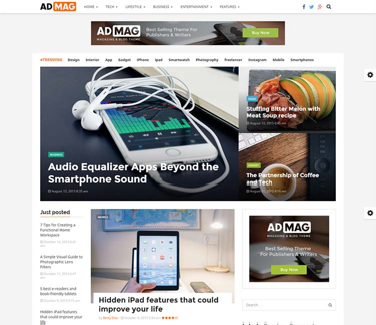 AdMag WordPress Theme Free Download