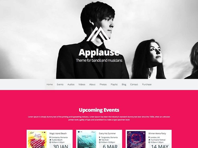 Applause WordPress Theme Free Download