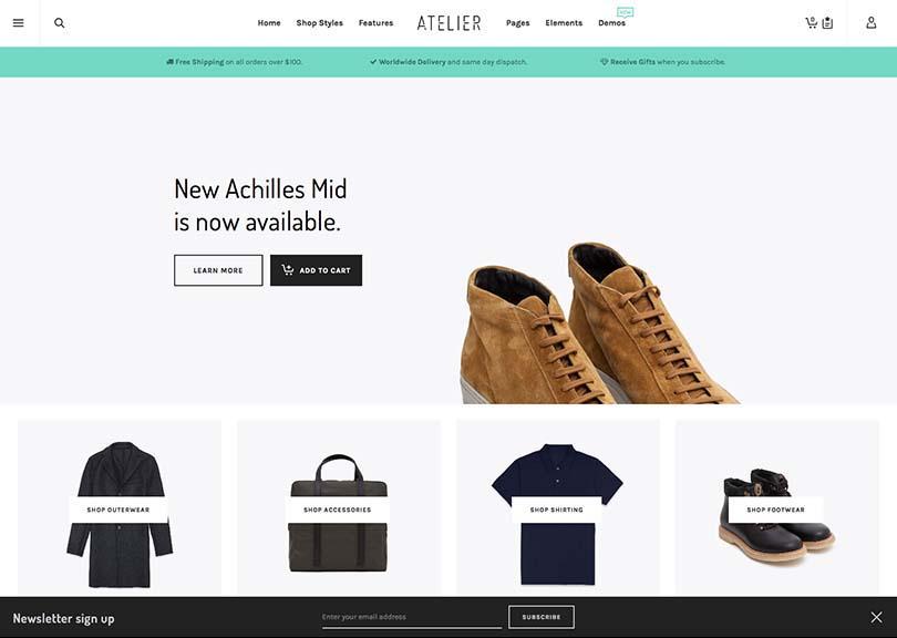 Atelier WooCommerce WordPress Theme Free Download