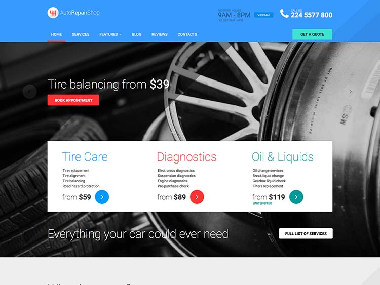AutoRepairShop WordPress Free Download