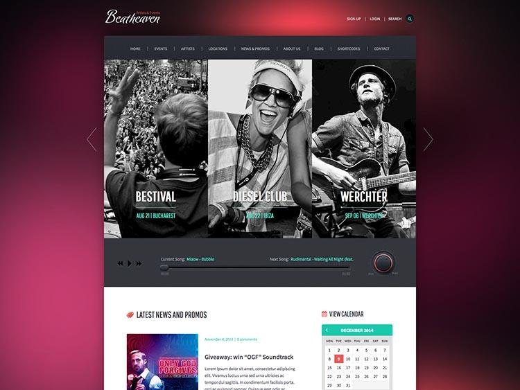 Beat Heaven WordPress Theme Free Download