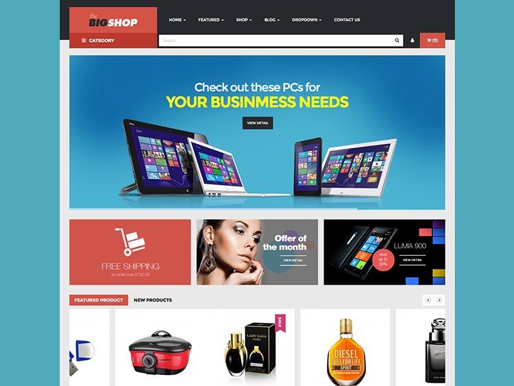 BigShop WordPress Theme Free Download