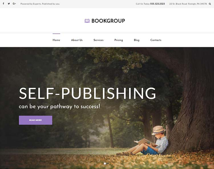 Book Group WordPress Theme Free Download