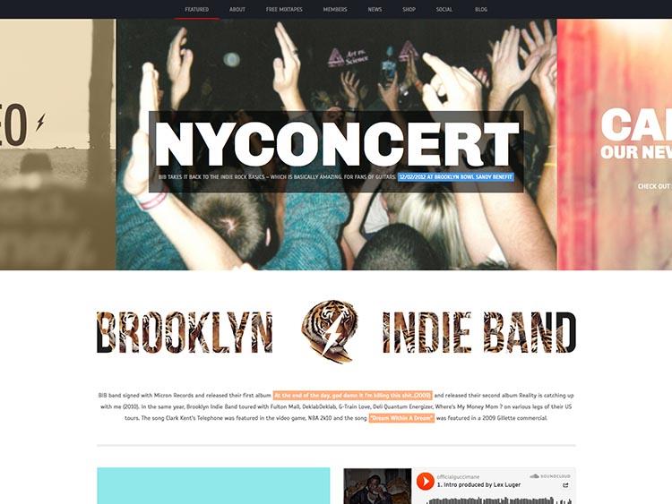 Brooklyn Indie Band WordPress Theme Free Download