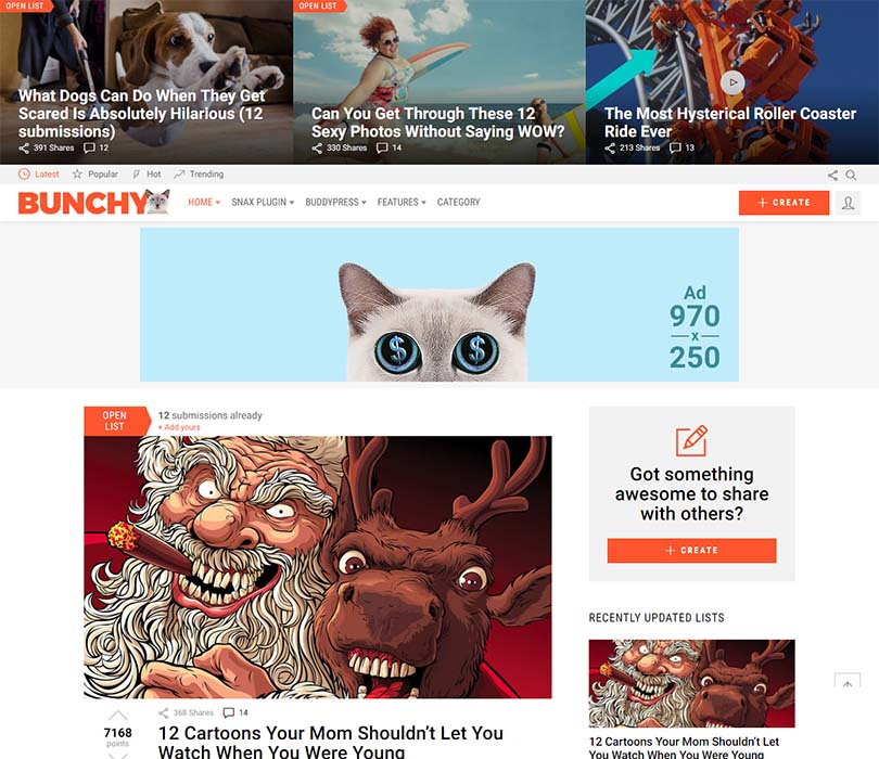 Bunchy WordPress Free Download