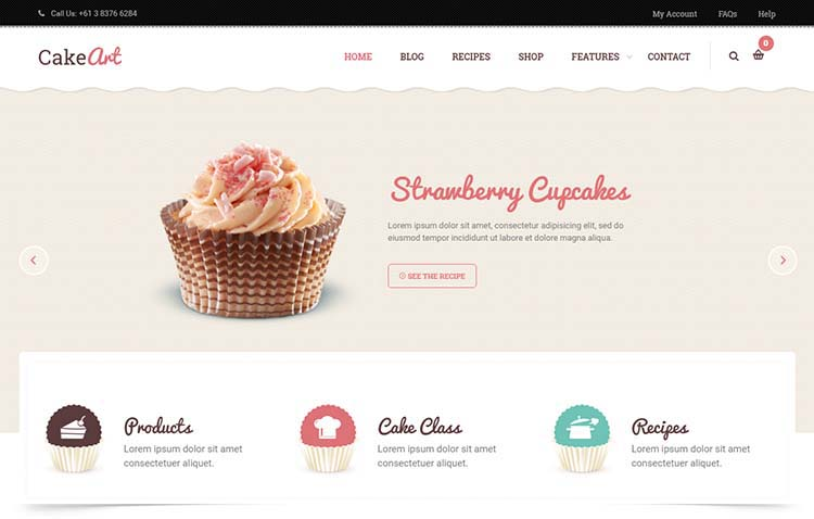 CakeArt WordPress Theme Free Download