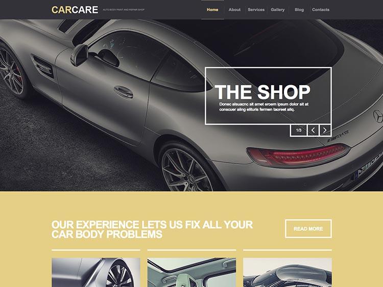 Car Care WordPress Free Download