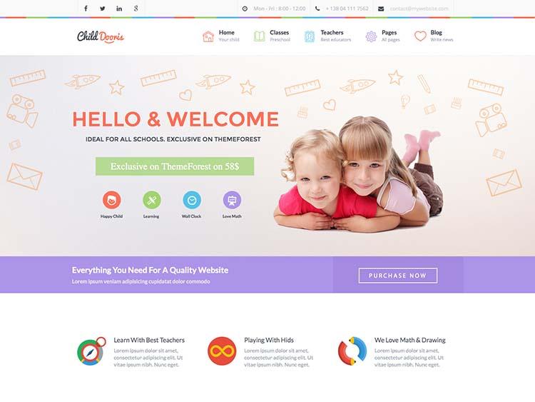 Child Dooris WordPress Free Download