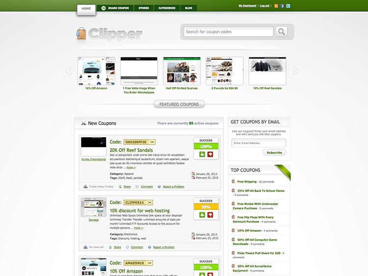 Clipper WordPress Theme Free Download