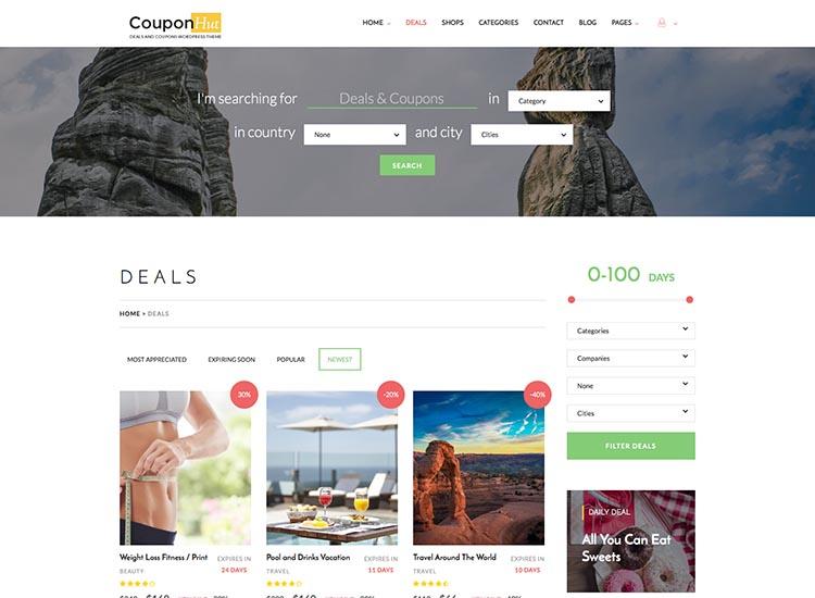 CouponHut WordPress Theme Free Download