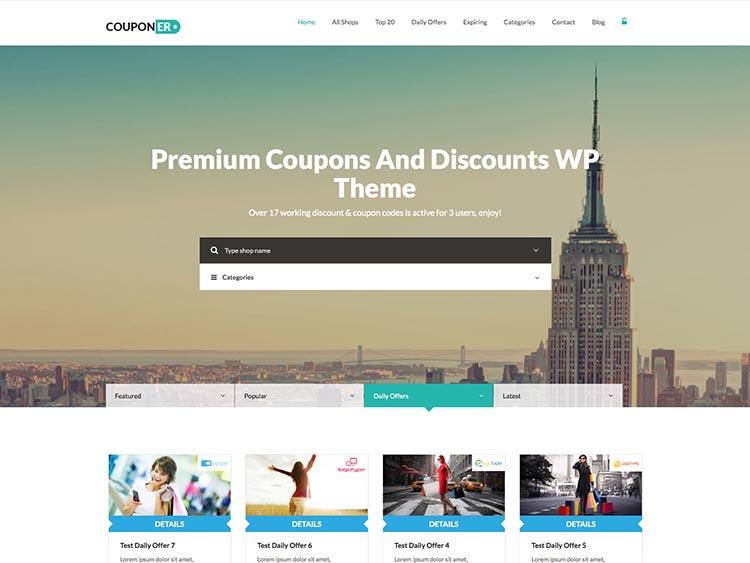Couponer WordPress Theme Free Download