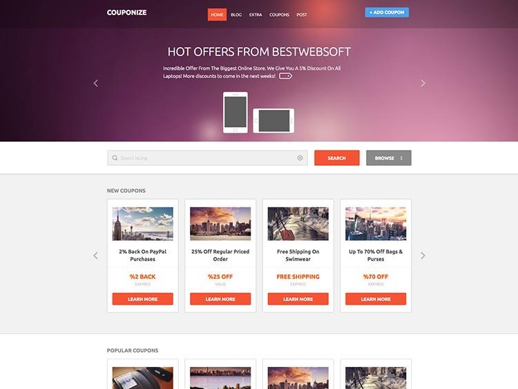 Couponize WordPress Theme Free Download