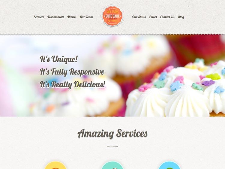 Cute Cake WordPress Theme Free Download