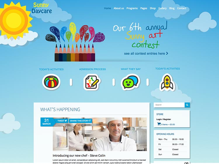 Daycare WordPress Free Download