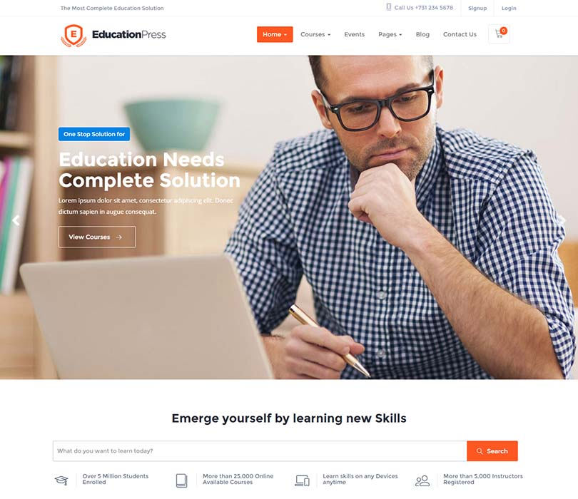 EducationPress WordPress Theme Free Download