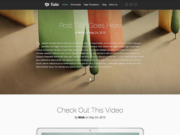 Fable WordPress Theme Free Download