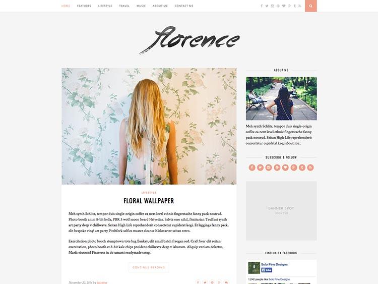 Florence WordPress Theme Free Download