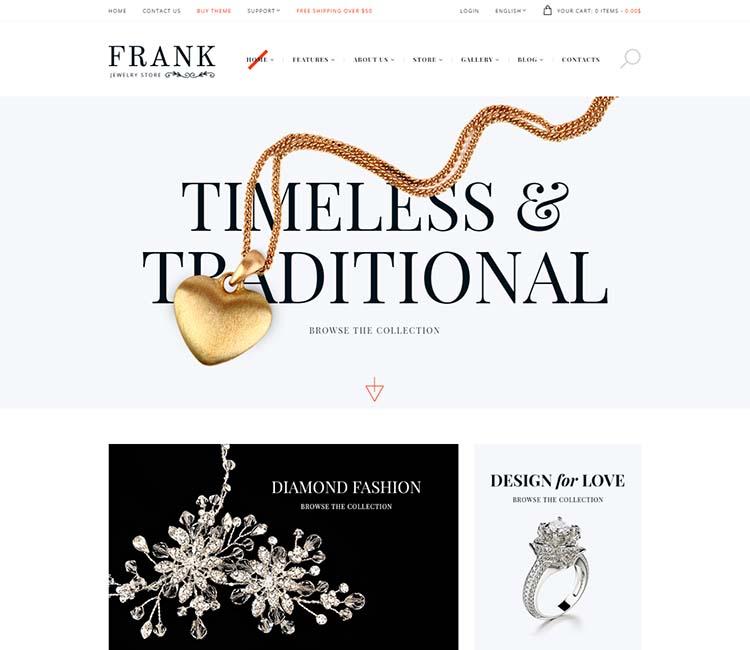 Frank Jewelry & Watches WordPress Theme Free Download