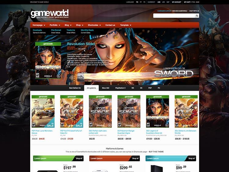 GameWorld WordPress Theme Free Download