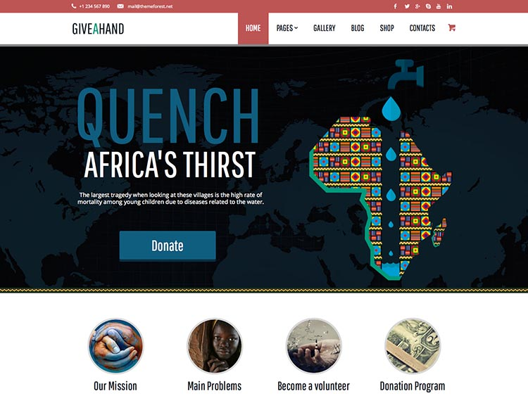 GiveAHand WordPress Theme Free Download