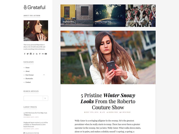 Grateful WordPress Theme Free Download