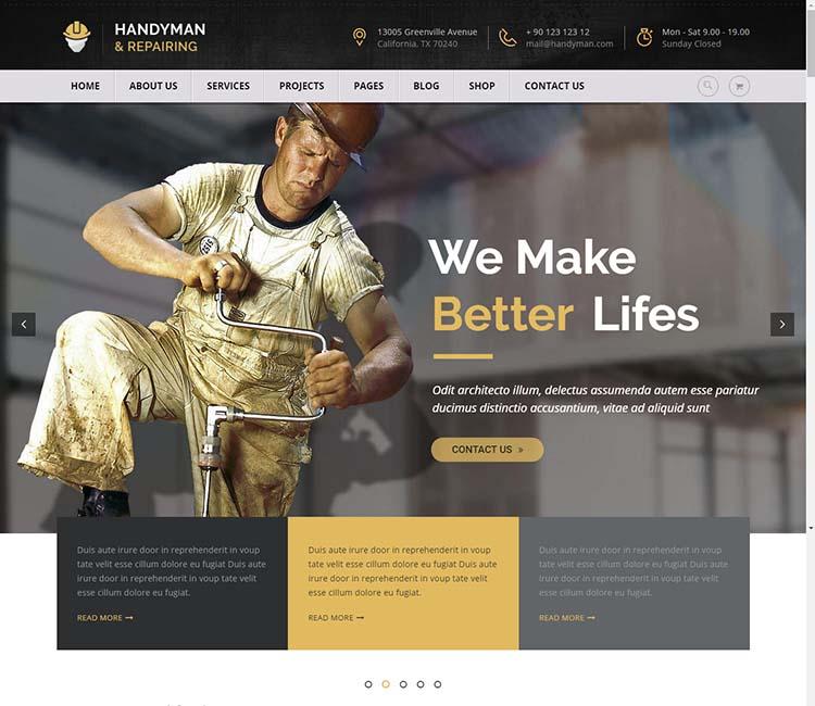 Handyman Repairing WordPress Free Download