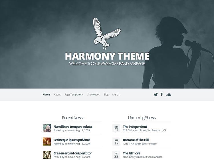 Harmony WordPress Theme Free Download