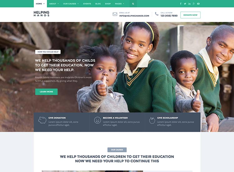 Helping Hands WordPress Theme Free Download